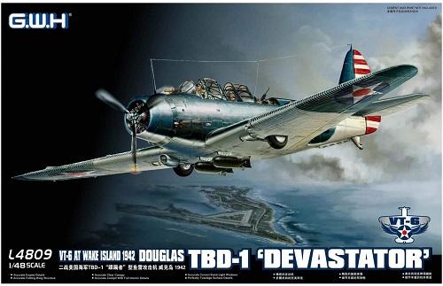 グレートウォールホビー 1/48 アメリカ海軍 TBD-1 デバステーター VT-6 ウェーク島1942 プラモデル:A-ZHOBBY