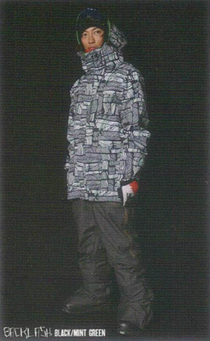 SCAPE ウェア 【エスケープ SNOW ウエア】 BACKLASH JACKET BLACK MINTGREEN 11-12モデル,送料無料!