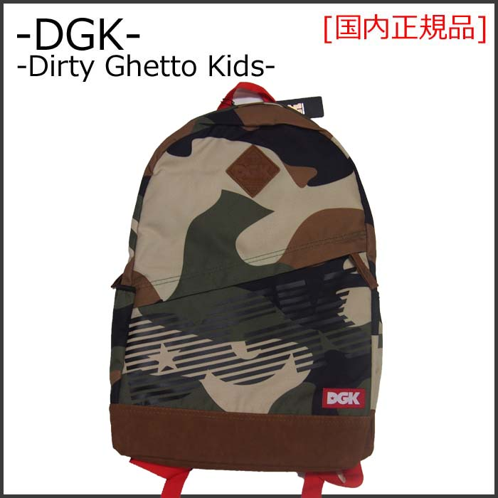 DGK (Dirty Ghetto Kids) ディージーケー ANGLE DELUXE BACKPACK バックパック (リュック) 鞄 スケートボード ブランド