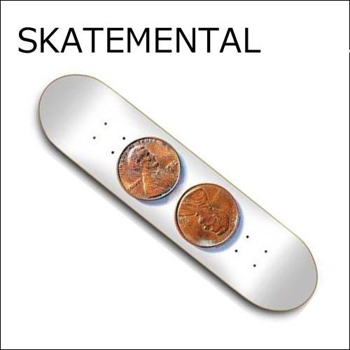 [正規品] SKATEMENTAL デッキ [DOUBLE PENNY] 【スケートメンタルスケートボード】 スケートボードデッキ / スケボー SKATEBOARD DECK