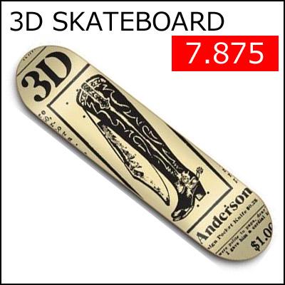 [正規品] 3D SKATEBOARDS デッキ [BOOT KNIFE] 【3Dスケートボード】 スケートボードデッキ / スケボー SKATEBOARD DECK