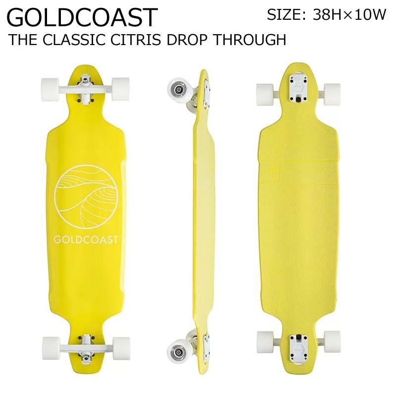 GOLDCOAST クルーザー コンプリート スケートボード ロングボード ロンスケ THE CLASSIC CITRIS DROP THROUGH SKATEBOARD スノーボード オフトレ ゴールドコースト