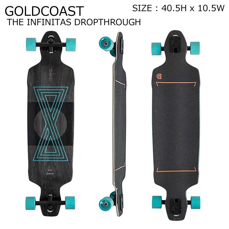 GOLDCOAST クルーザー コンプリート スケートボード ロングボード ロンスケ THE INFINITAS DROPTHROUGH SKATEBOARD スノーボード オフトレ ゴールドコースト