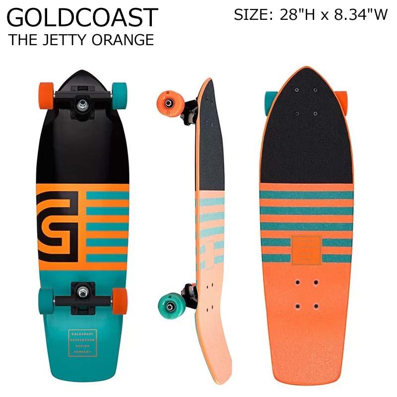 GOLDCOAST クルーザー コンプリート スケートボード THE JETTY ORANGE SKATEBOARD クルージング ゴールドコースト