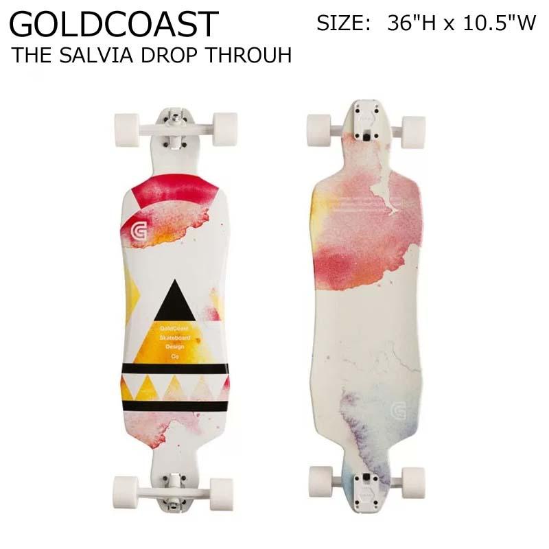 GOLDCOAST クルーザー コンプリート スケートボード ロングボード ロンスケ THE SALVIA DROP THROUH SKATEBOARD スノーボード オフトレ ゴールドコースト