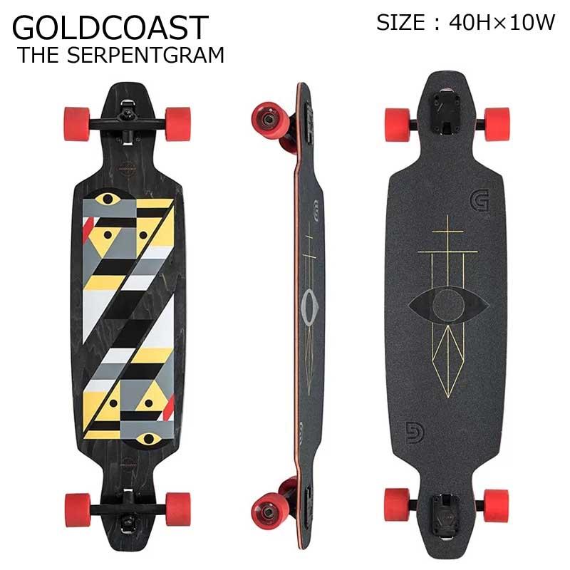 GOLDCOAST クルーザー コンプリート スケートボード ロングボード ロンスケ THE SERPENTGRAM BLACK SKATEBOARD スノーボード オフトレ ゴールドコースト