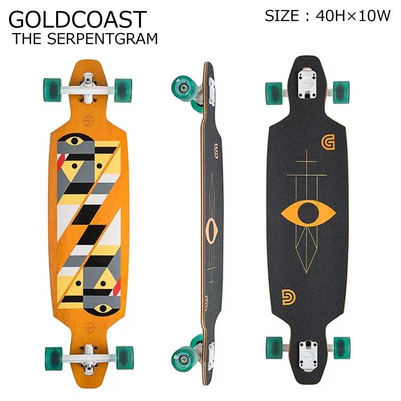 GOLDCOAST クルーザー コンプリート スケートボード ロングボード ロンスケ THE SERPENTGRAM YELLOW SKATEBOARD スノーボード オフトレ ゴールドコースト