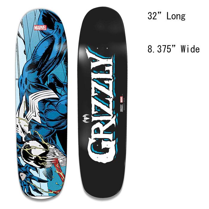 グリズリー デッキ GRIZZLY X VENOM CREEPER CRUISER BOARD MARVEL クルージング デッキ スケートボード スケボー SKATEBOARD
