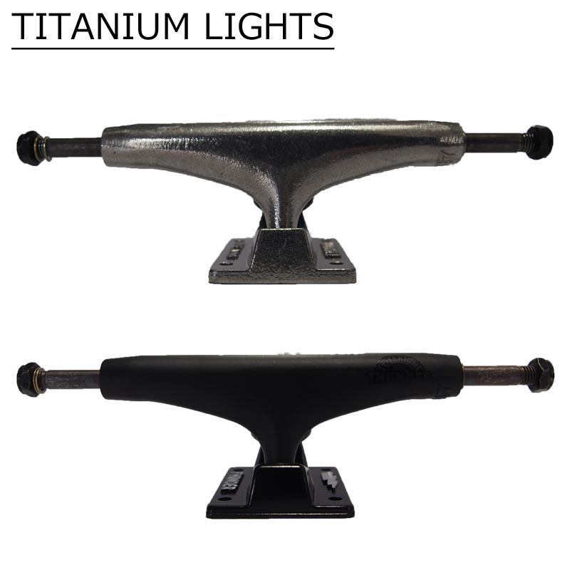 サンダー トラック スケートボードパーツ THUNDER TRUCKS TITANIUM LIGHT POLISH サンダー トラック ブラック シルバー スケボー トラック 最軽量