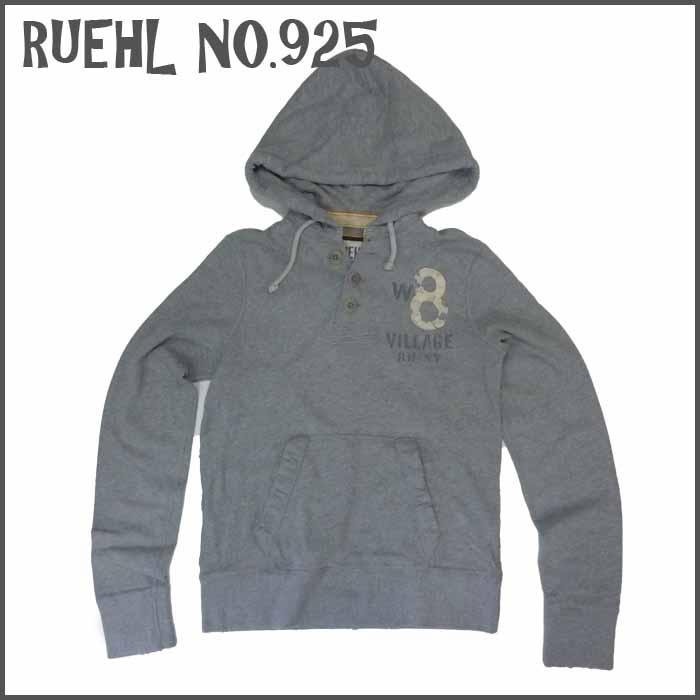 RUEHL No. 925 メンズ パーカー グレー フード (ルール ナンバー925) アバクロ (abercrombie) 姉妹ブランド アメカジ (アメリカン カジュアル)
