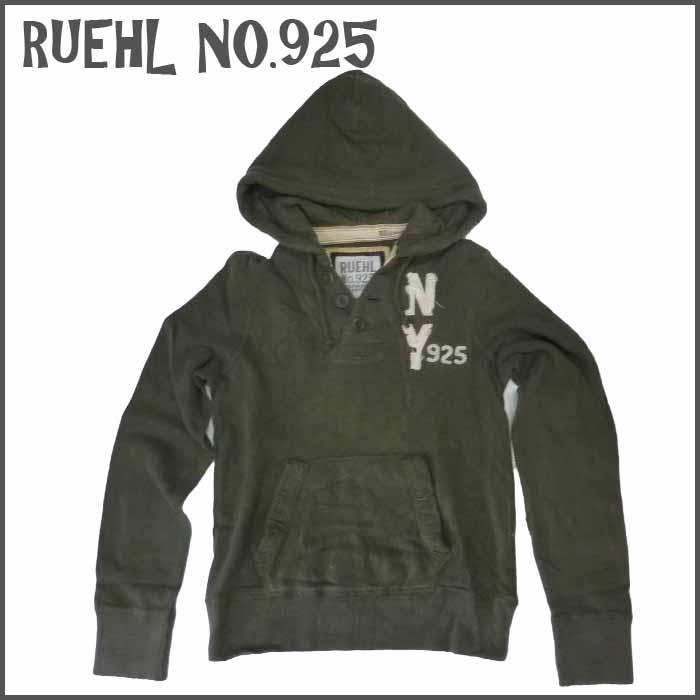 RUEHL No. 925 メンズ パーカー オリーブ フード (ルール ナンバー925) アバクロ (abercrombie) 姉妹ブランド アメカジ (アメリカン カジュアル)