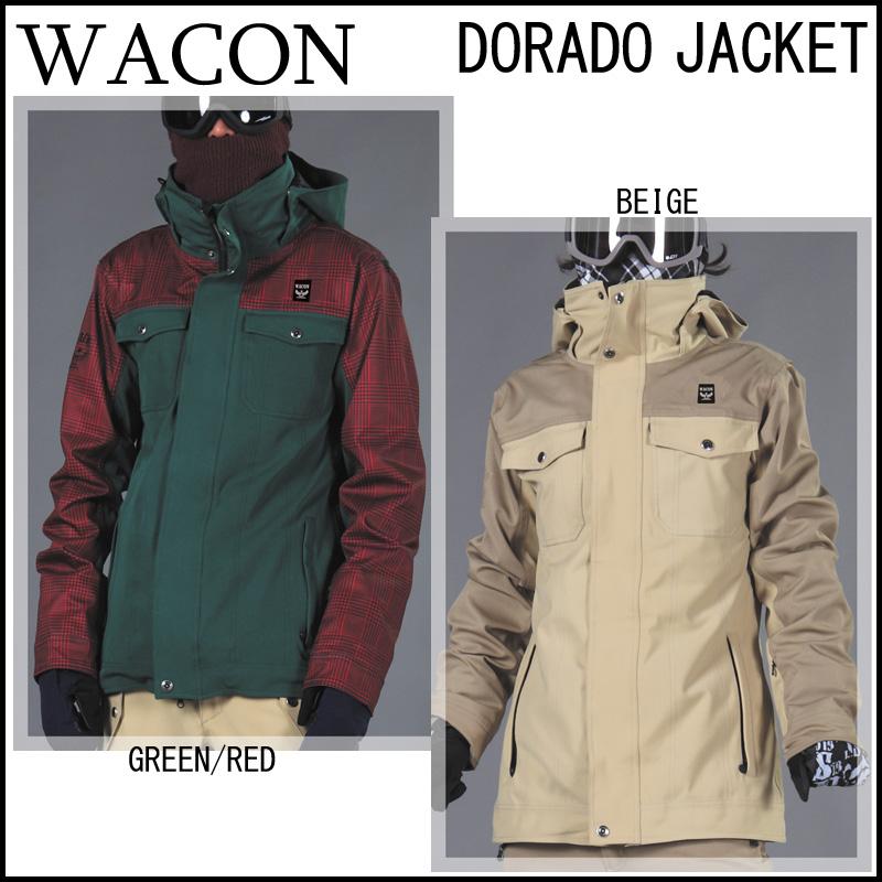 15-16 WACON ワコン DORADO JACKET ドラドジャケット スノーボードウェア メンズ WACON FC 和魂 2015-2016 旧品 型落ち スノボー