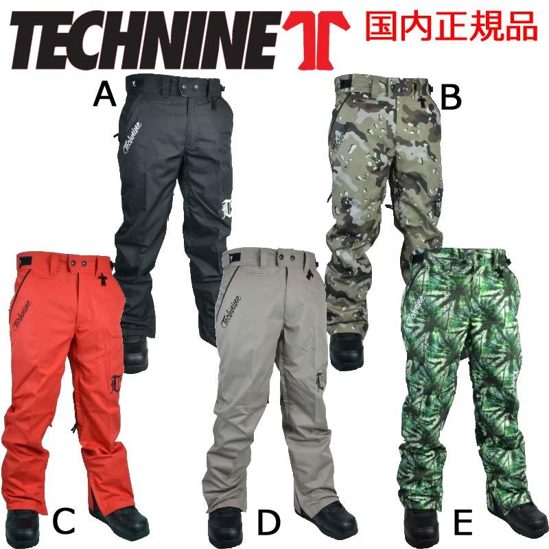 15-16 テックナイン CHINO SHELL PANT 【TECHNINE】 チノパンツ スノーボードウェア メンズ 2015-2016