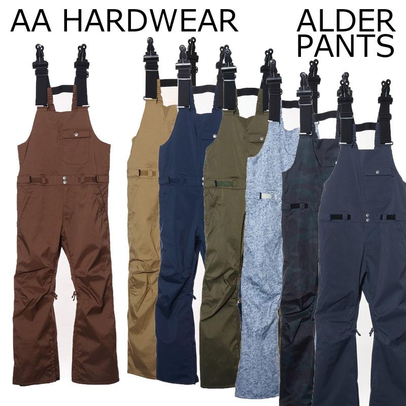 18-19 AA HARDWEAR ダブルエー ハードウェア アルダーパンツ スノーボードウェア ALDER PANT SNOWBOARD WEAR BIB PANTS ビブパンツ スリムフィット AA