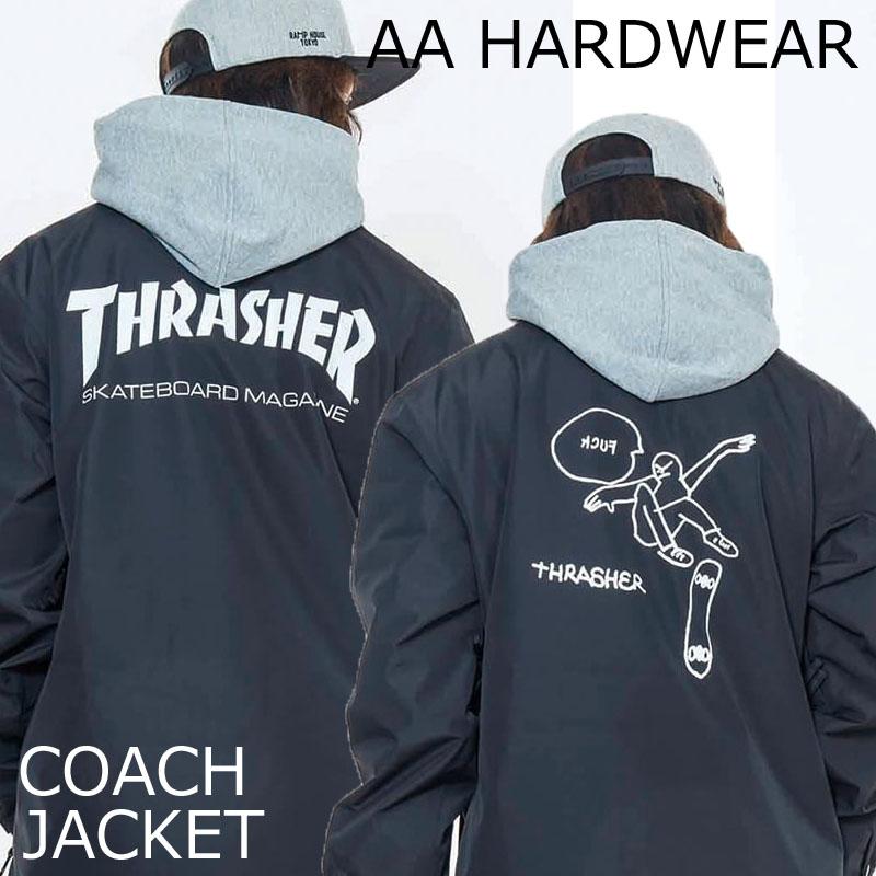 18-19 AA HARDWEAR スノーボードウェア コーチジャケット THRASHER スラッシャー マークゴンザレス ダブルエー ハードウェア SNOWBOARD WEAR COACH JACKET