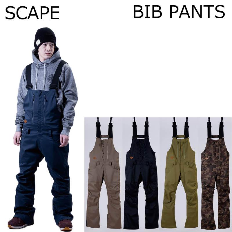 18-19 SCAPE エスケープ BIB PANTS スノーボードパンツ ビブパンツ スノボー SNOWBOARD WEAR