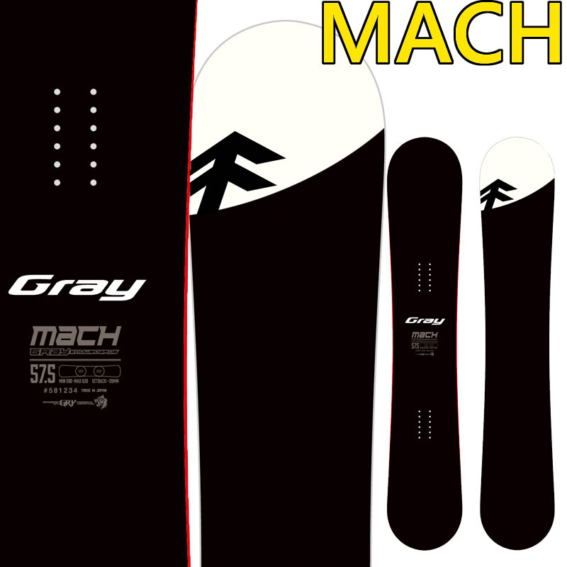 19-20 グレー マッハ GRAY MACH スノーボード グレイ SNOWBOARD メンズ レディース カービング スノボー 板 国産
