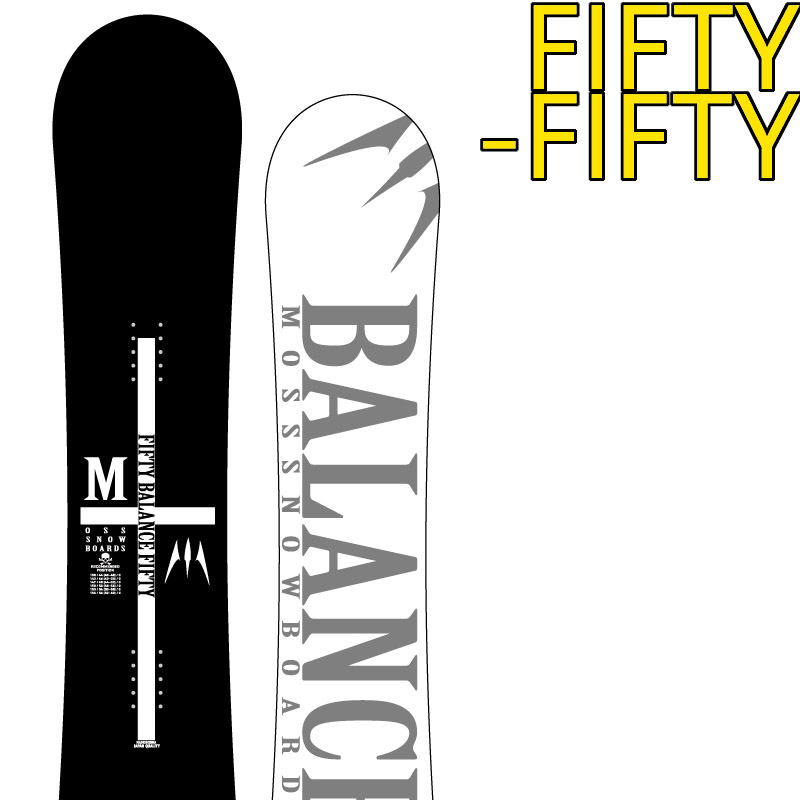 19-20 MOSS FIFTY-FIFTY モス フィフティー スノーボード 板 スノボー MOSS SNOWBOARD グラトリ