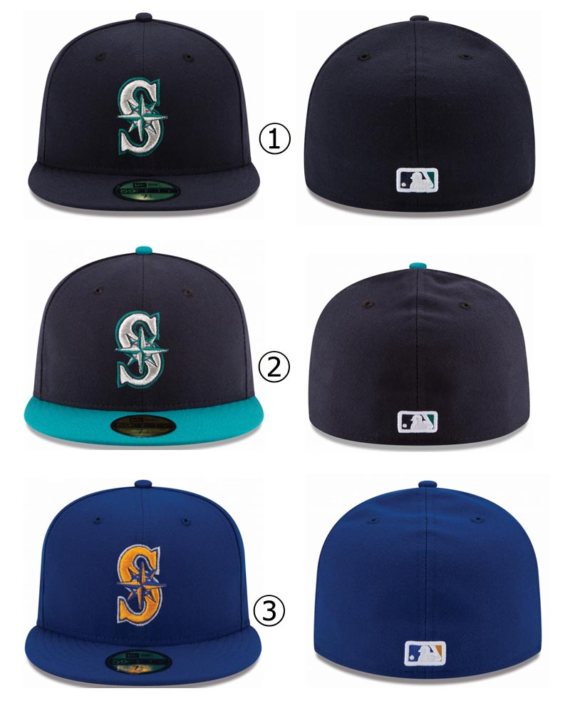 4ecd3b24c3b New Era Seattle Mariners MLB Authentic Collection 59FIFTY On Field Cap  NewEra
