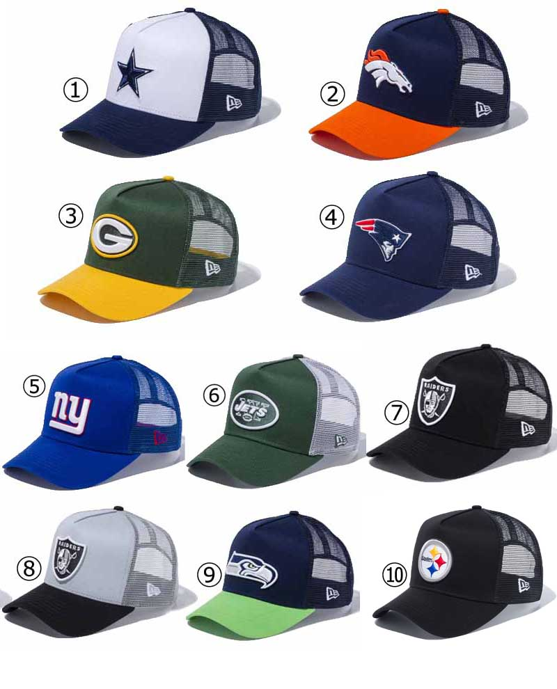 New gills mesh cap 9FORTY D-FRAME TRUCKER 940 NFL CAP American football hat  American football team cap NEW ERA ※NFL 7121245dd41