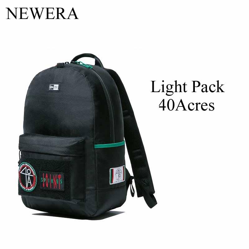 ニューエラ リュック NEWERA Light Pack ライトパック ライトパック 40 Acres フォーティエーカーズ ブラック バックパック BACKPACK 鞄 BAG 【11476749】