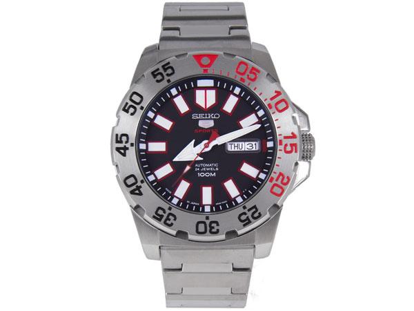 SEIKO 5 Seiko wrist watch automatic movement made in Japan reverse SRP485J1 black