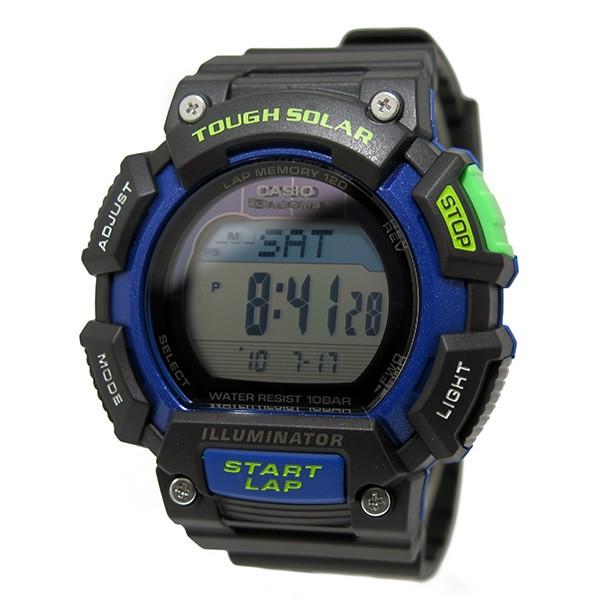 카시오 CASIO 디지털 태양광 남자 시계 STL-S110H-1B 블랙/블루
