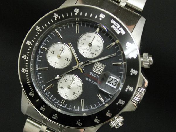 b05593c917 楽天市場】エルジン ELGIN 腕時計 クロノグラフ メンズ FK1408S-B ...