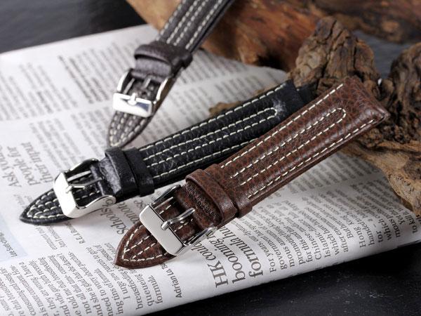 腕時計 替えベルト カーフ2ステッチ カーフ 22mm PLC2S352DBRSV
