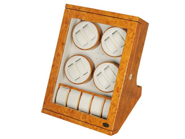 ワケアリB品 アウトレット アウトレット LUWH 8本 ウォッチワインダー ワインディングマシーン 腕時計 13本 収納 LU30008RW ウッド