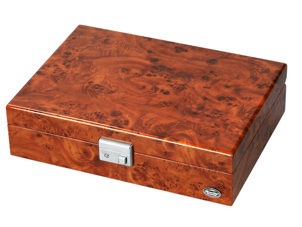 LUWH 木製 鍵付 ウォッチボックス/腕時計 収納ケース 8本収納 LU51010RD 木目 ブラウン