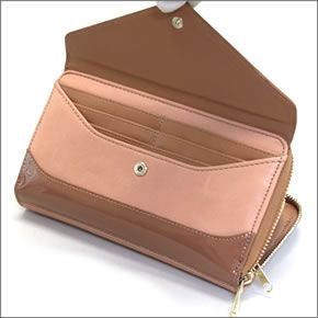 Anello ZU-B0391-B/N AutoCAD Pocket & L-shaped fastener coins with color wallet large zip around wallet