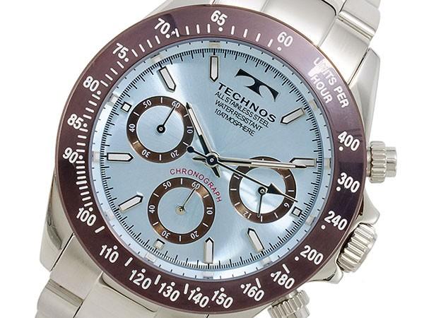 テクノス TECHNOS 腕時計 メンズ T4251AI クロノグラフ クオーツ