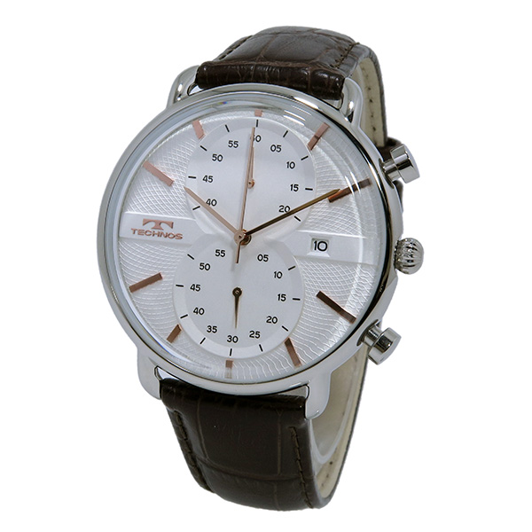 Aaa net shop technos technos watches men 39 s t6397sa classic chronograph rakuten global market for Technos watches