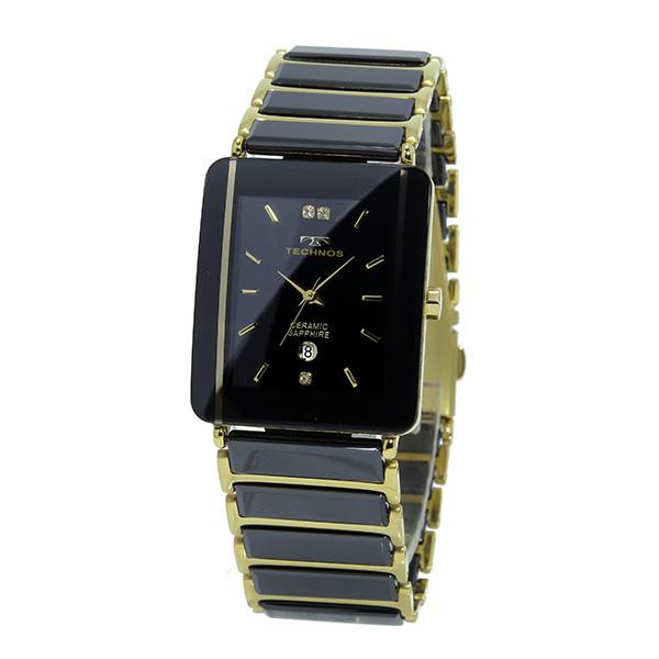 Aaa net shop techno technos watch men t9137gb ceramic quartz rakuten global market for Technos watches