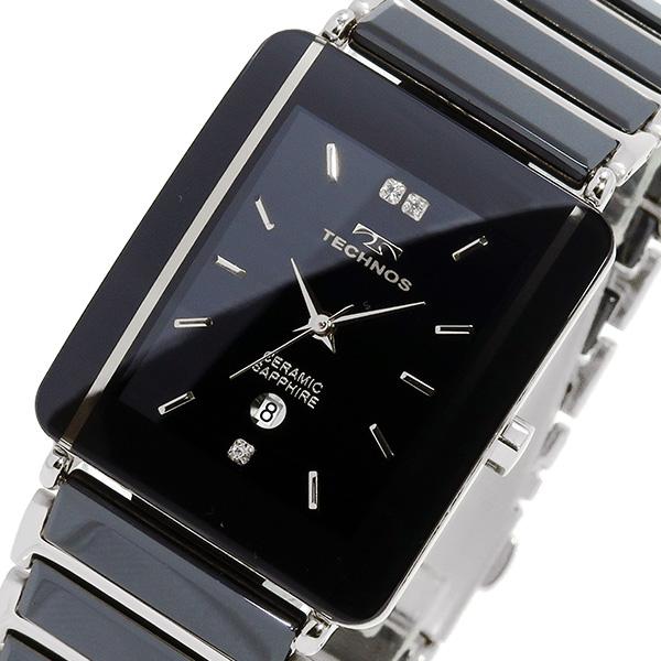 テクノス TECHNOS 腕時計 メンズ T9137TB セラミック クオーツ
