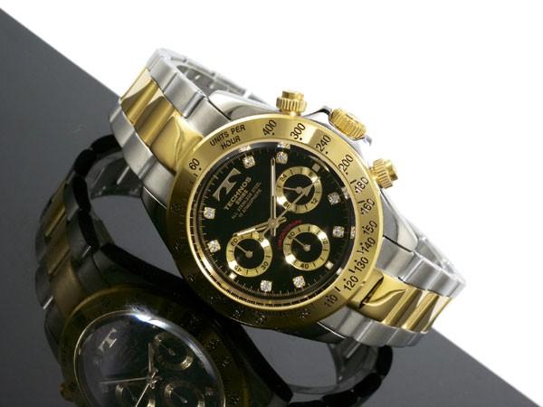 Aaa net shop rakuten global market technos technos watches men 39 s tgm640tb chronograph quartz for Technos watches