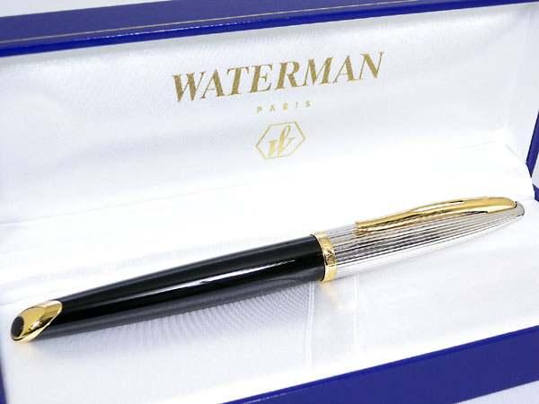 WATERMAN ウォーターマン カレン・デラックス ブラック&シルバーGT 万年筆 M(中字) S2228143
