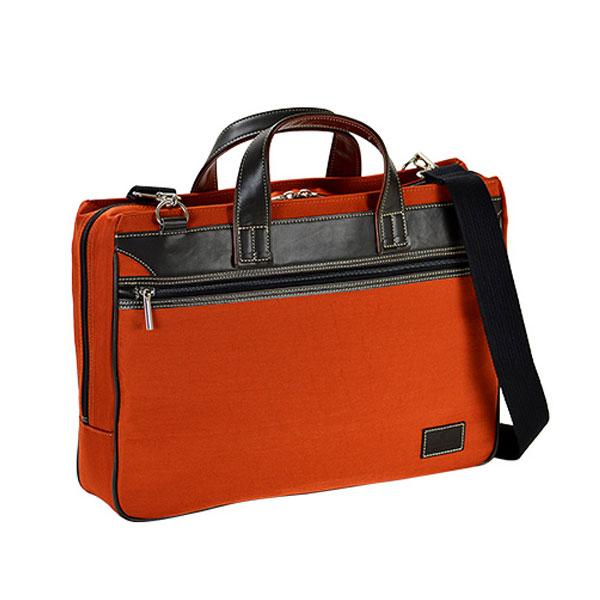 豊岡製鞄 ブリーフケース ビジネスバッグ メンズ 26595 オレンジ