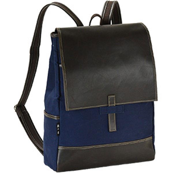 鞄の國 帆布シリーズ メンズ リュック バックパック 42526 ネイビー