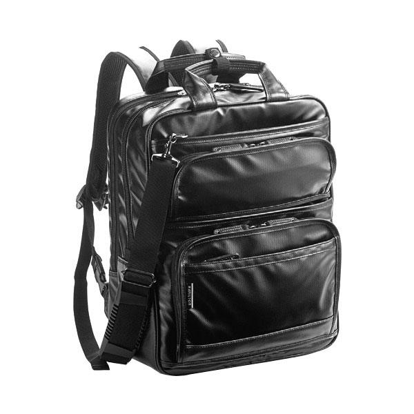 ハミルトン ポリカーボコーティング バックパック メンズ 42530 ブラック