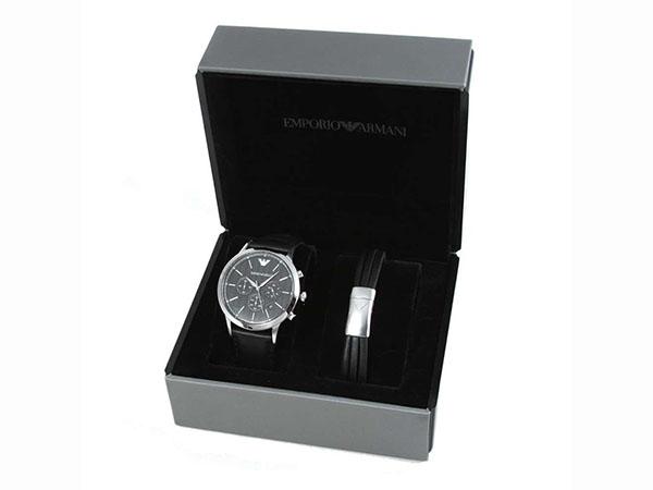 엔포리오아르마니 ARMANI 손목시계 팔찌 세트 맨즈 AR8034