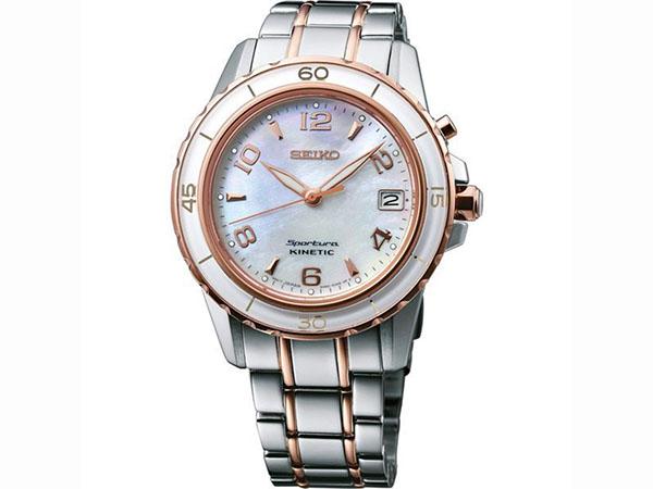 SEIKO 세이 코 키네틱 スポーチュラ 시계 여성용 SKA878P1