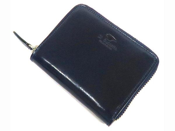 Il Bussetto イルブセット ラウンドジップ ミニ 短財布 メンズ 7815210 ネイビー