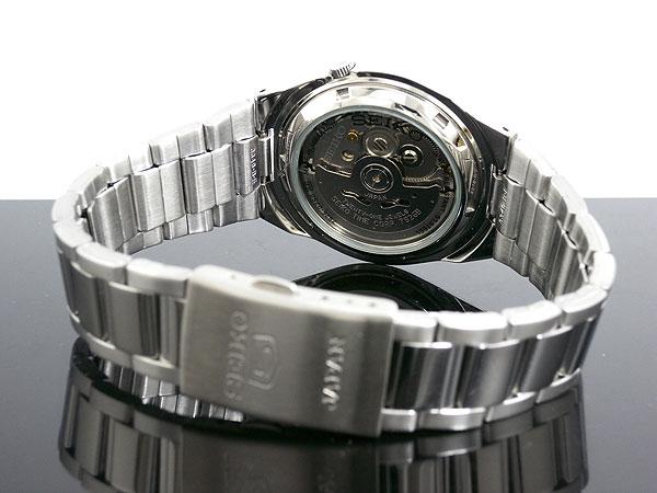 SEIKO 5 세이 코 5 역 수입 일본 스틸 오토매틱 남성용 시계 SNKC55J1 블랙/실버 메탈 벨트