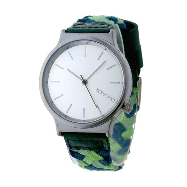 コモノ KOMONO Wizard Woven-Mixed Greens クオーツ レディース 腕時計 KOM-W1850 シルバー