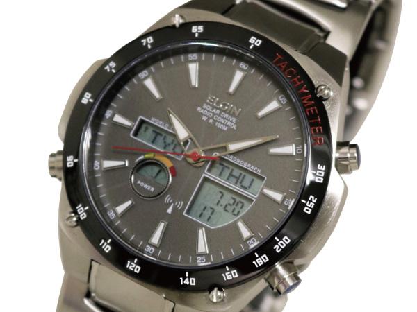 エルジン ELGIN 腕時計 ワールドタイム 電波 ソーラー メンズ FK1416B-BP