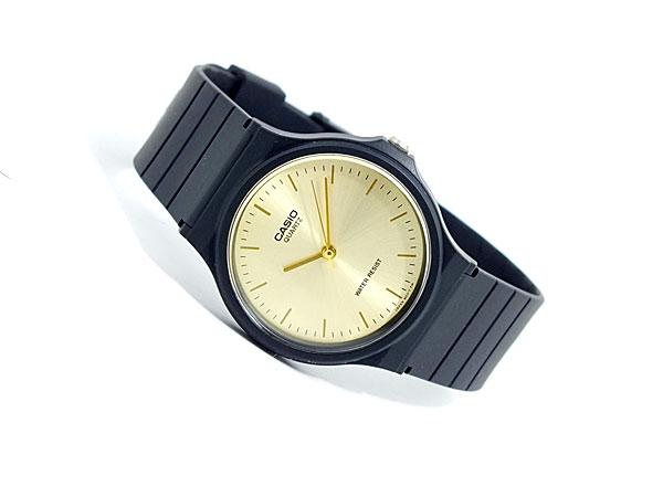 카시오 CASIO 기본 역 수입 쿼 츠 남성용 시계 MQ-24-9E 샴페인 골드 엑스 블랙 고무 벨트