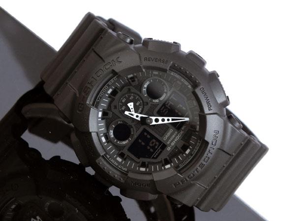 카시오 CASIO G쇼크 G-SHOCK 아나데지멘즈 손목시계 GA-100-1 A1블랙 러버 벨트