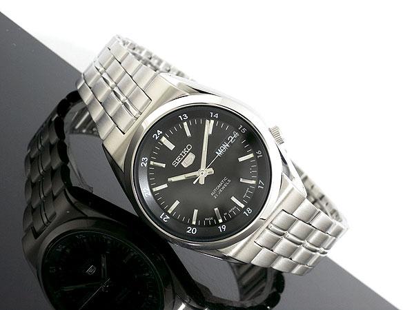 Seiko SEIKO 5 5 reverse made in Japan automatic movement mens watch SNK567J1 black x silver silver metal belt